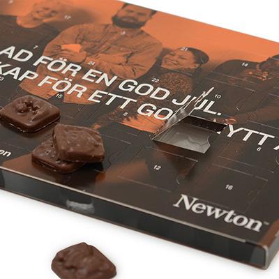 Newton chokladkalender detalj