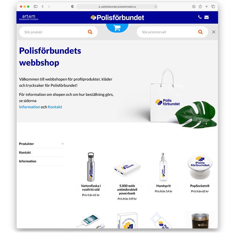 polisforbundet webbshop