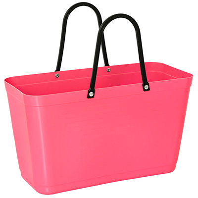 053 hinza bag large tropical pink green plastic