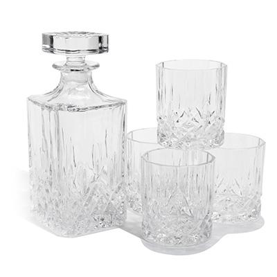 410778 glaskaraff med glas
