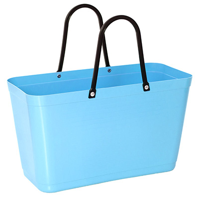 054 hinza bag large light blue green plastic