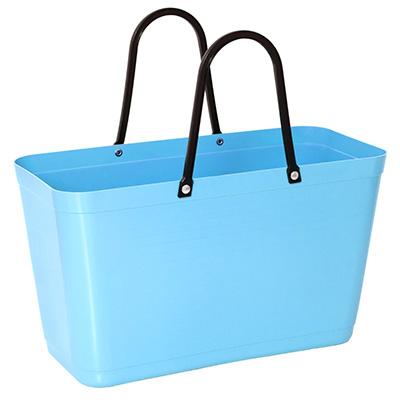 054 hinza bag large light blue green plastic