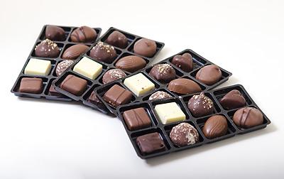 Choklad utlagd