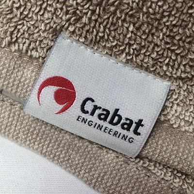 Crabat etikett p handduk