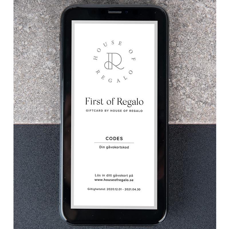 First of Regalo digitalt kort