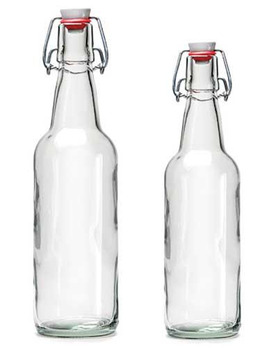 Flaska 50 cl 33 cl med patentkortk