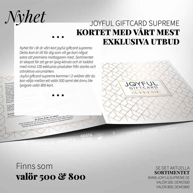 Joyful Giftcard Supreme 800 3