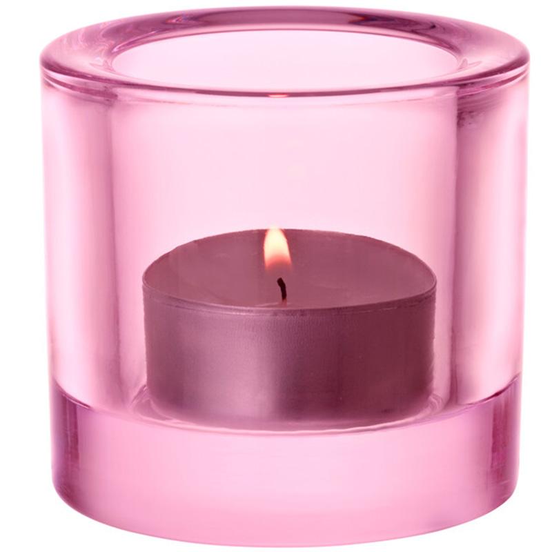Kivi votive candleholder 60mm blekrosa