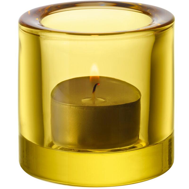 Kivi votive candleholder 60mm citrongul