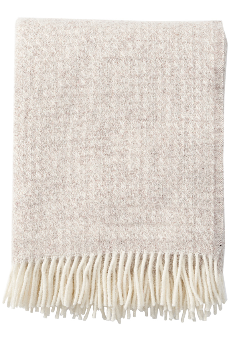 Klippan Breeze 203086 natural beige wool throw