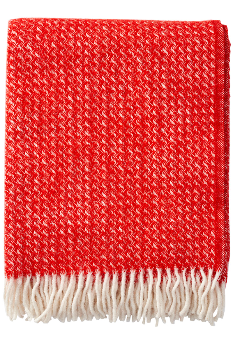 Klippan Breeze 203087 red wool throw