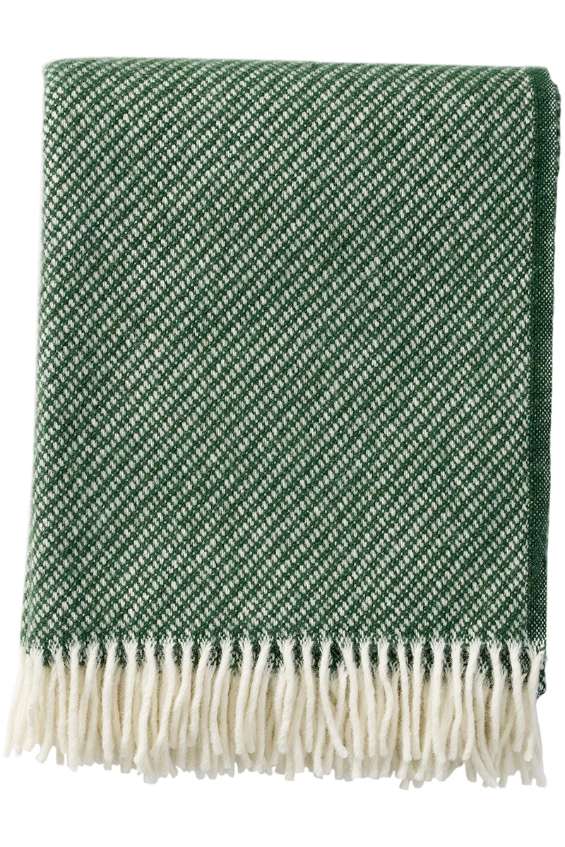 Klippan Drops 203089 bottle green wool throw