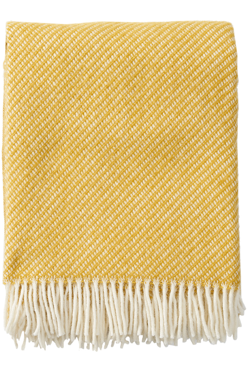 Klippan Drops 203090 yellow wool throw