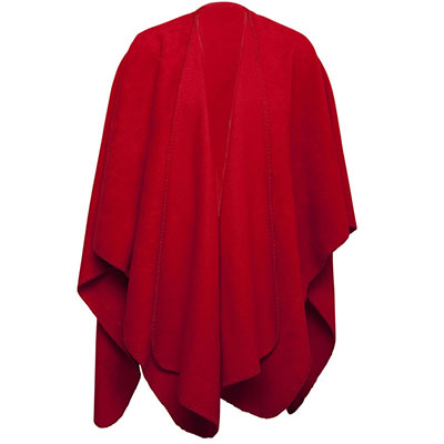 Nightingale poncho 410717 35 red