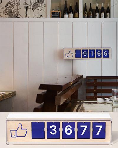 Restaurang Facebook raknare