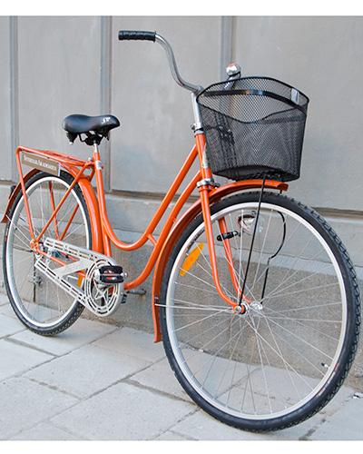 Retro cykel snett fram