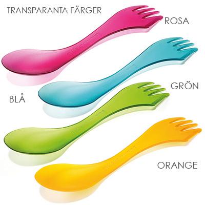 Spork transparanta farger