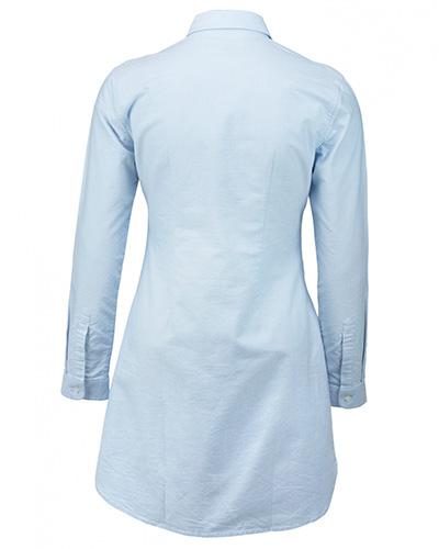 augusta skjorts ljusbla bak