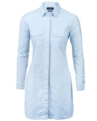augusta skjorts ljusbla fram