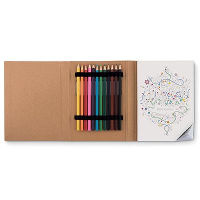 colorbook och pennor
