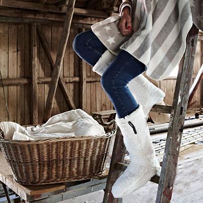 cosy socks offwhite miljo