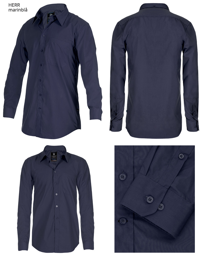 dress shirt SH19 marinbla