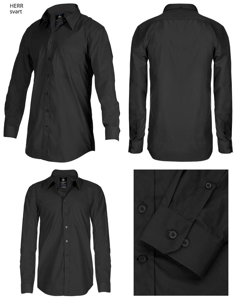 dress shirt SH19 svart