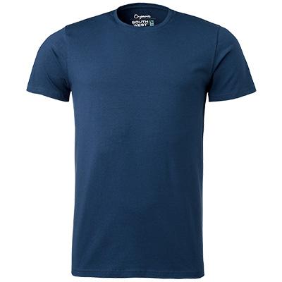 fairtrade t shirt rund hals herr indigo