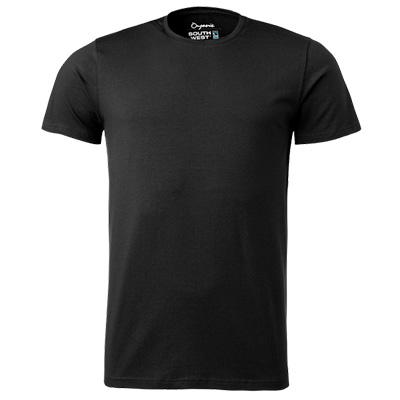 fairtrade t shirt rund hals herr svart