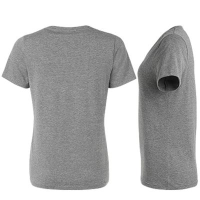 fairtrade t shirt v neck dam gramelerad bak o sida