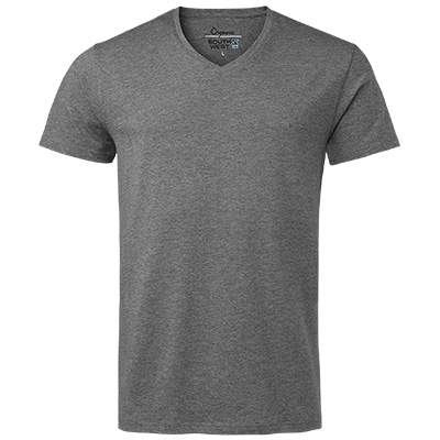 fairtrade t shirt v neck herr gramelerad