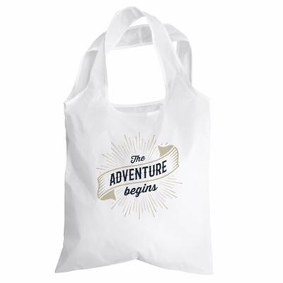 foldaway shopping bag vit m tryck