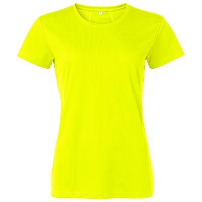 funktions t shirt dam gul fluo