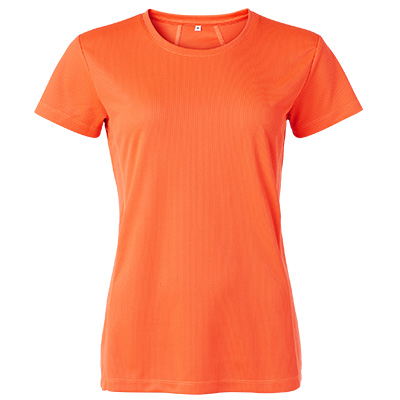 funktions t shirt dam orange fluo