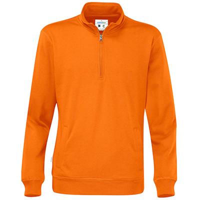 half zip unisex eko orange