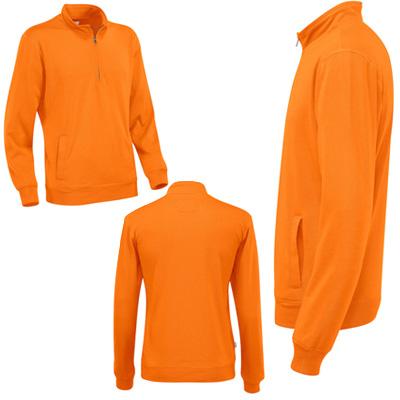 half zip unisex eko orange2