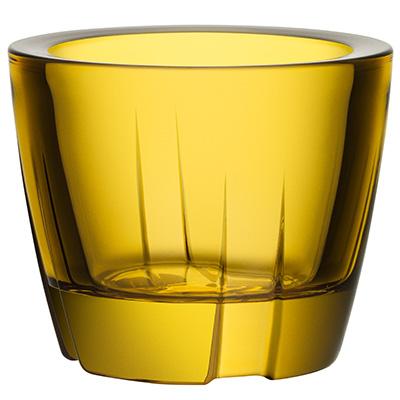 kosta boda bruk ljuslykta yellow