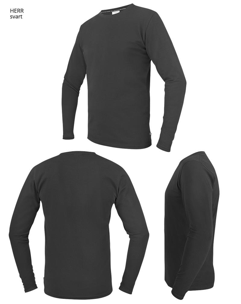 langarmadt shirt TS17 svart
