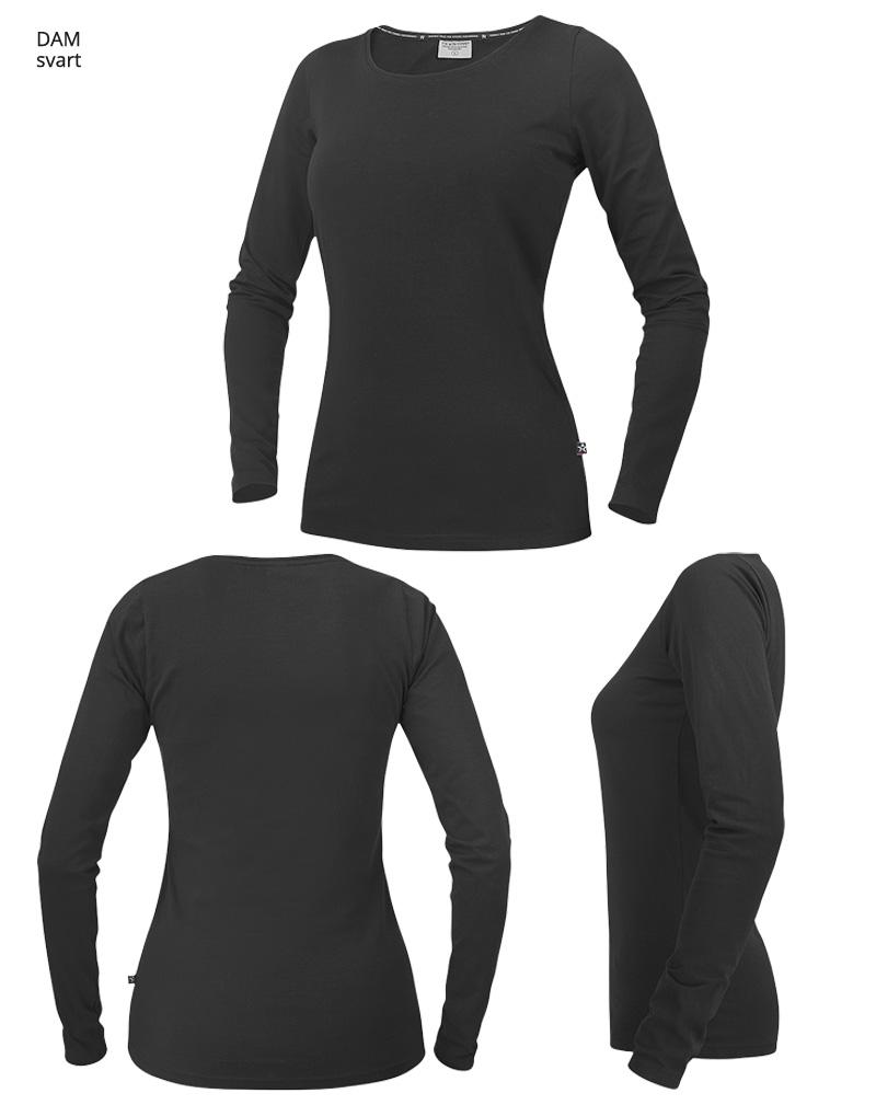 langarmadt shirt WT17 svart