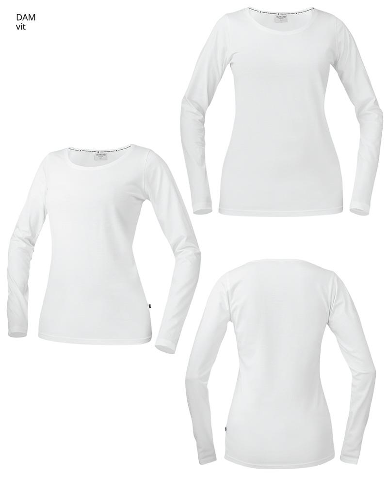 langarmadt shirt WT17 vit