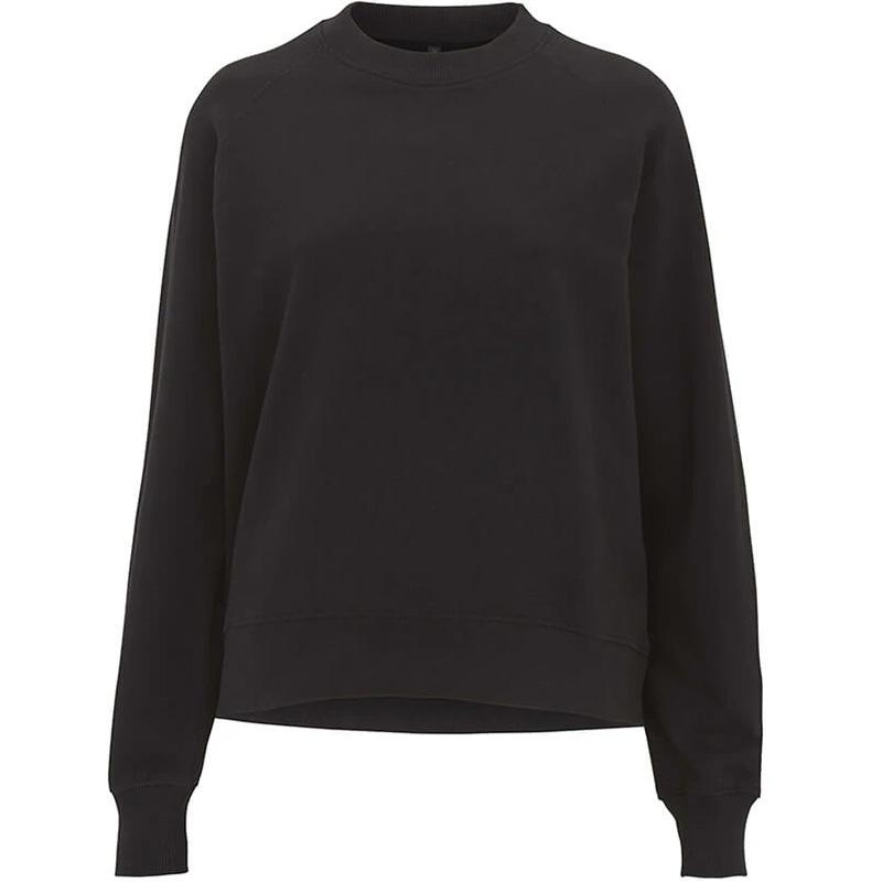 organic cotton sweatshirt dam black