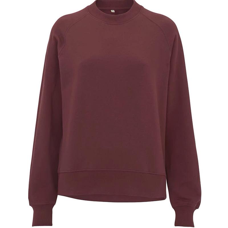 organic cotton sweatshirt dam burgundy