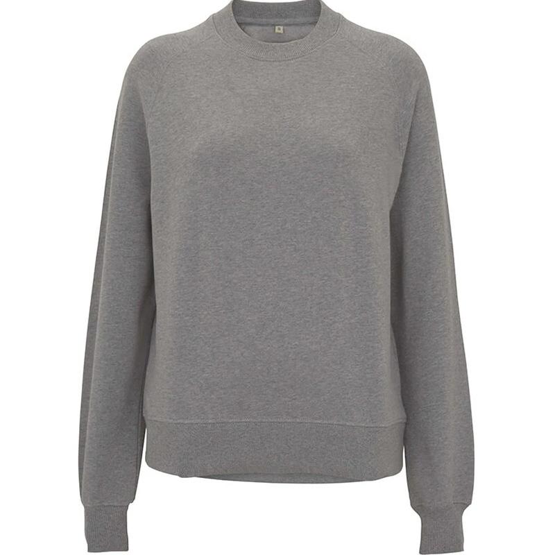 organic cotton sweatshirt dam light heather