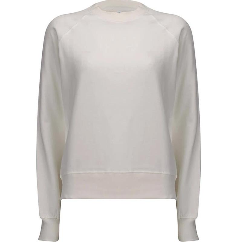 organic cotton sweatshirt dam white mist