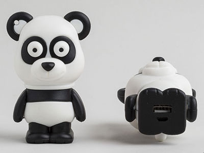 powerbank egen form panda