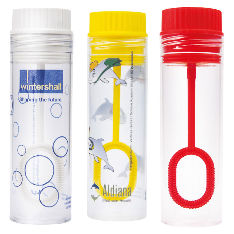 sapbubblor med tryck transparent
