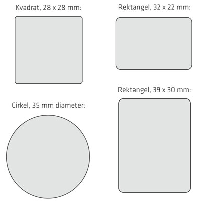 screenmate storlekar