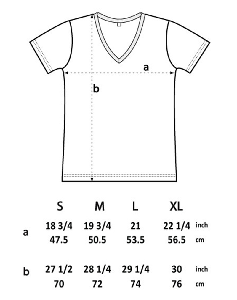t shirt EP03V storleksguide