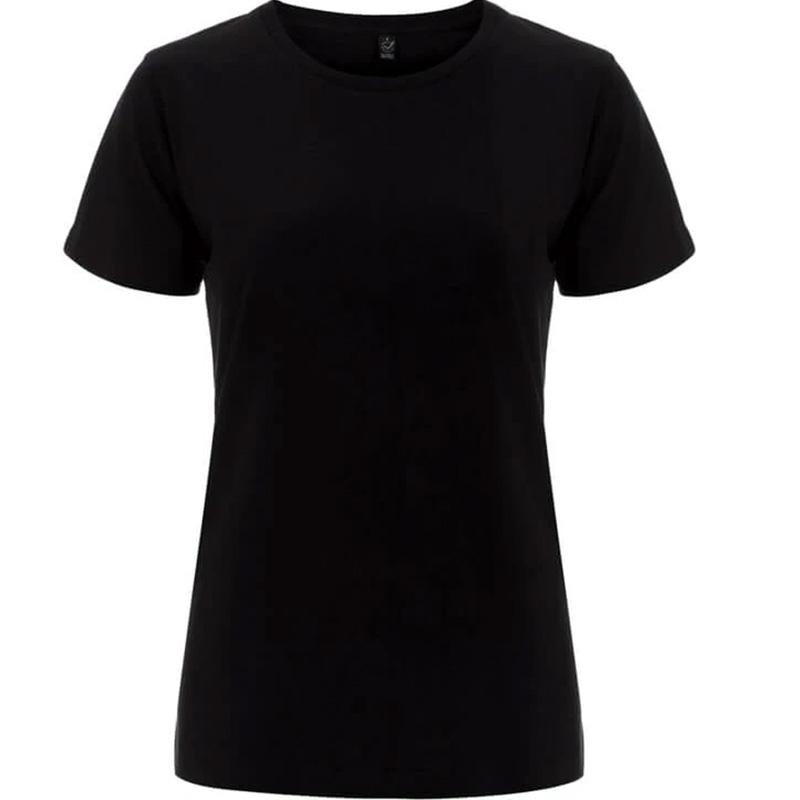 t shirt fair wear dam svart
