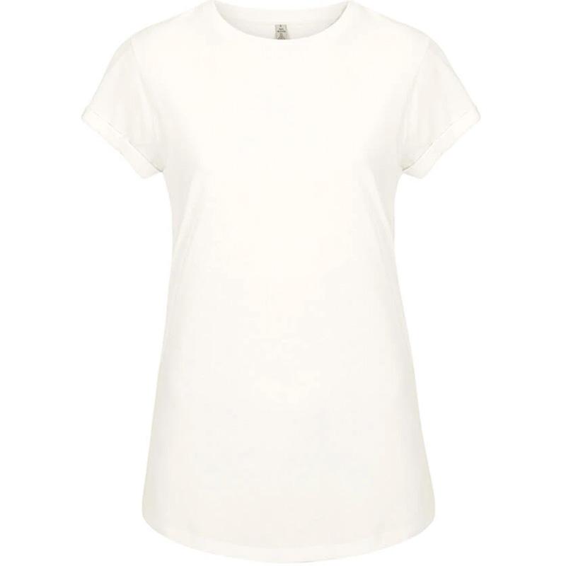 t shirt rullad arm dam dove white